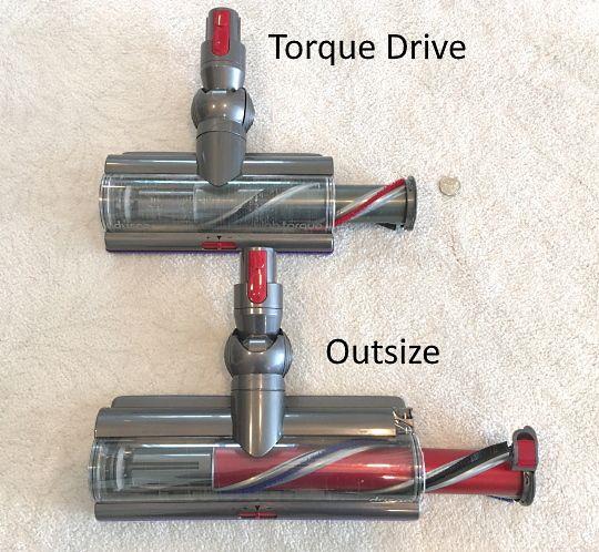 Outsize vs Torque Drive brushroll maintenance