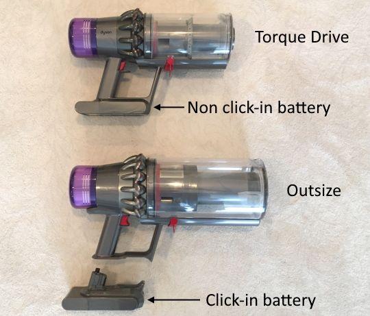 Outsize vs Torque Drive batteries