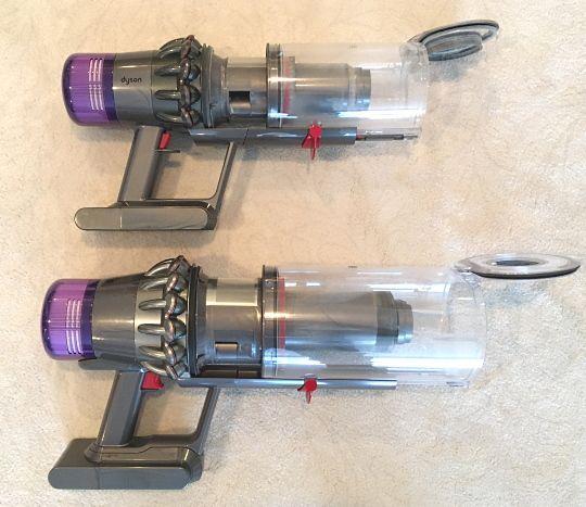 V11 Outsize vs Torque Drive - emptying the dust bin