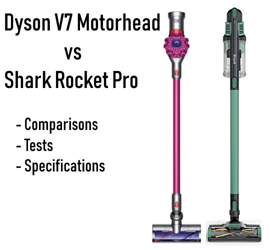 Dyson V7 vs Shark Rocket Pro