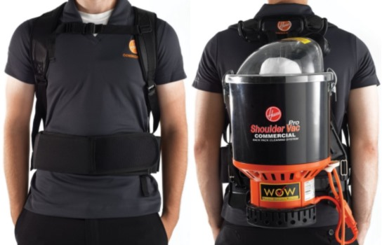 Wearing the Hoover C2401 Backpack Vacuum