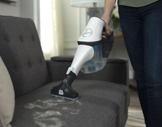 Hoover React in Handheld Mode with Pet Hair