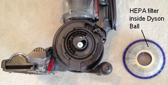HEPA filter on Dyson Ball Vacuum