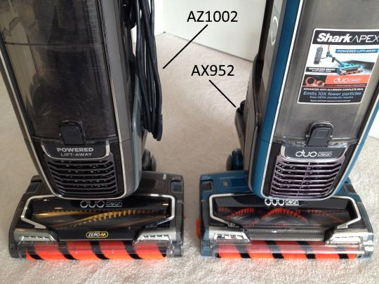 Shark APEX AX952 vs AZ1002
