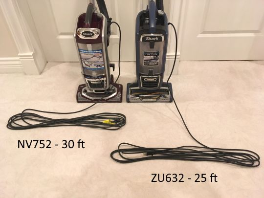 Shark vacuum power cords