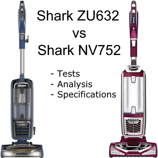 Shark ZU632 vs Shark NV752