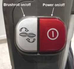 brushroll on off controls