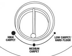 Hoover Hush Carpet Height Adjustment